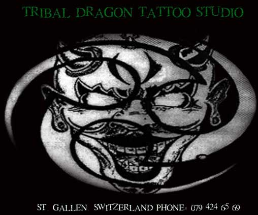 tribal dragon tattoo schweiz st.gallen
