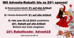 Advents-Rabatt auf Fashion, Dessous, Corsagen & High Heels