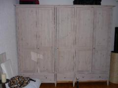 Armoire 5 portes + commode