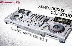 2x Pioneer CDJ-2000 + DJM-900 Limited Edition White