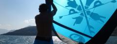 www.kite4you.ch Kiteschule, Wakeboardschule, Stand Up Paddling, Comerseeg